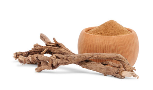 chicory root next to bowl with dog food for sensitive skin