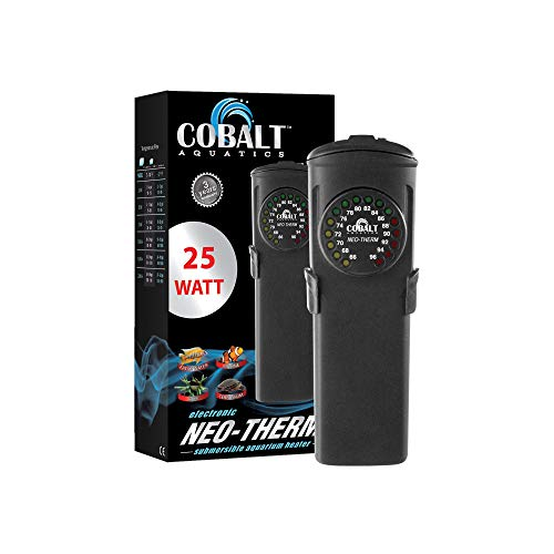 Cobalt Aquatics Flat Neo-Therm Heater with Adjustable Thermostat (Fully-Submersible, Shatterproof...