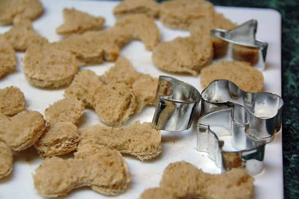 croutons with cookie cutters