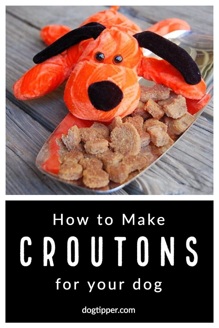 Crouton Recipe for Dog Treats #recipe