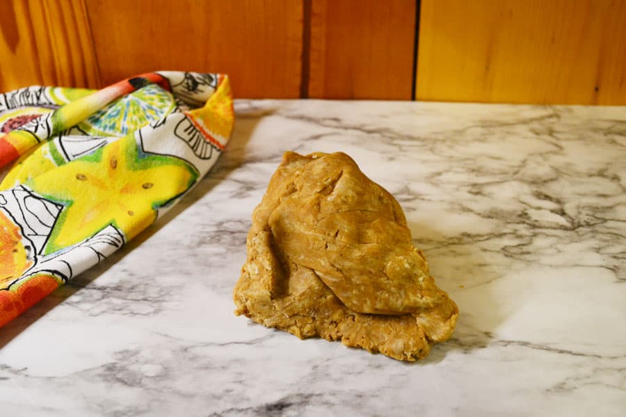 tapioca and peanut butter dough