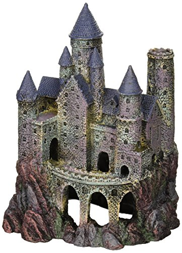 Penn-Plax Wizard's Castle Aquarium Decoration Hand Painted with Realistic Details Over 10 Inches...