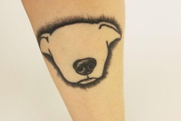 Cari K's dog tattoo.
