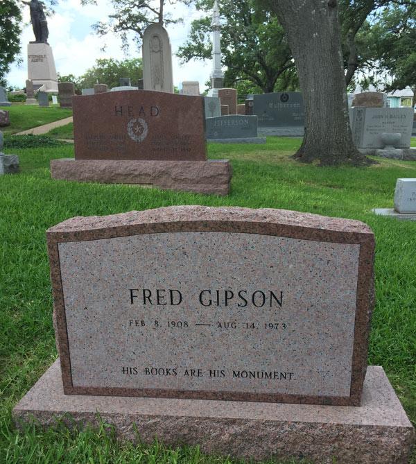 Fred Gipson headstone Texas State Cemetery, Austin