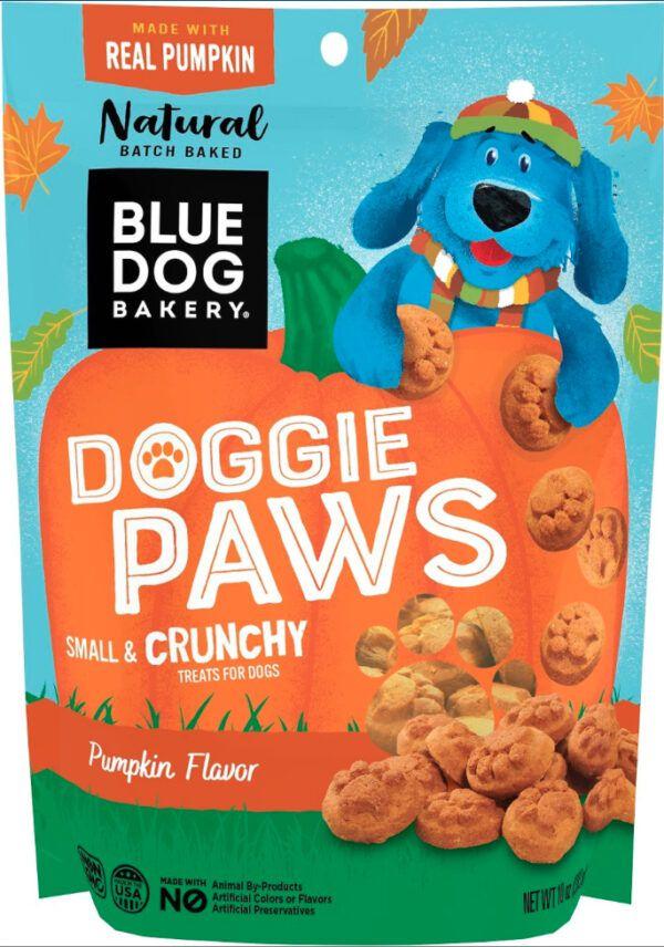 Blue Dog Bakery has several dog treats celebrating pumpkin.
